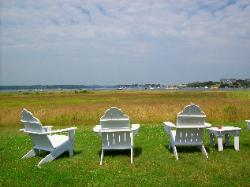 View with chairs of Biddeford Pool