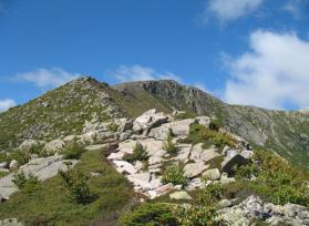 Hamlin Ridge Trail, looking up to the summit