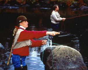 Fly Fishing is one of the many activities that can be done with a registered guide