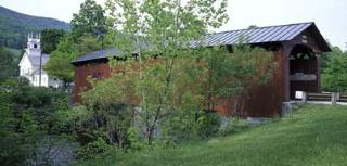 One of Vermont's many covered bridges.  Looking to stay in Vermont?  Click here...