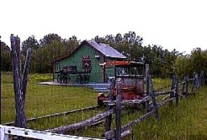 The Railroad Station at the Acadian Village